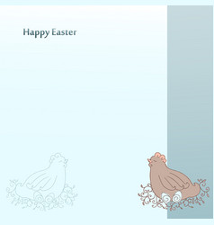 happy easter greeting cards postcard template vector image