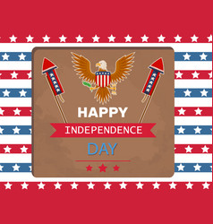 happy independence day eagle vector image
