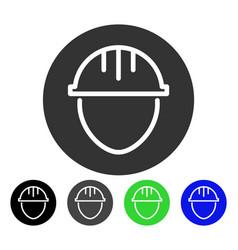 Helmet circle flat icon vector