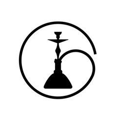 hookah logo simple icon on white isolated vector image