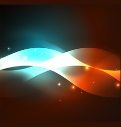illuminated neon waves vector image