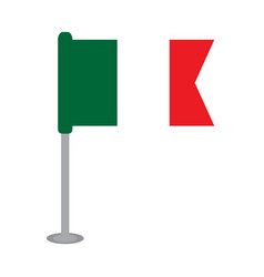 isolated flag of mexico vector image