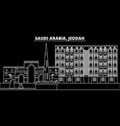 jeddah silhouette skyline saudi arabia - jeddah vector image