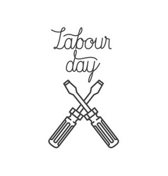Labor day label isolated icon vector