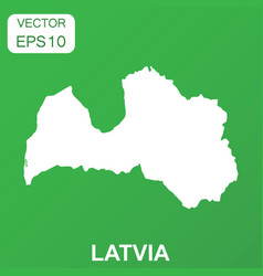 Latvia map icon business concept latvia pictogram vector