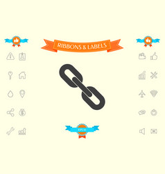 link chain symbol icon vector image