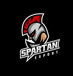 logo spartan e sport and sport style vector image