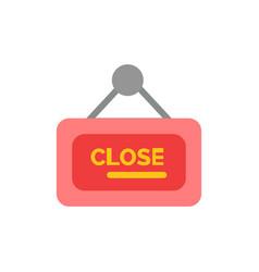 Marketing board sign close flat color icon icon vector