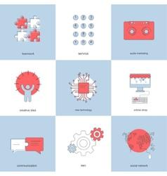 modern flat backgrounds set vector image