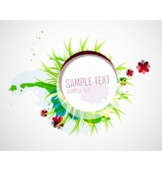 natural elements background vector image