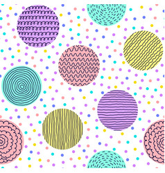Pattern with hand drawn circles vector