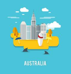 Perth capital city populous city in australia vector