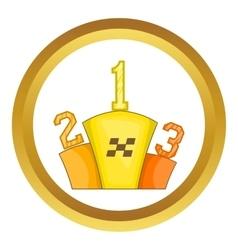 Prize pedestal icon vector