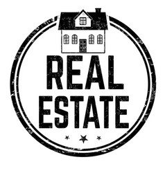 real estate sign or stamp vector image