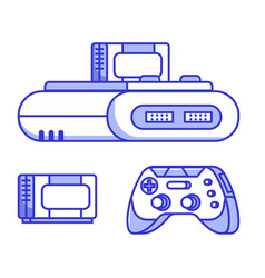 Retro classic tv game con vector