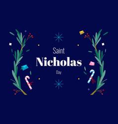 Saint nicholas day - december 6th - horizontal vector