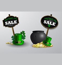 Sale poster for st patrick s day vector