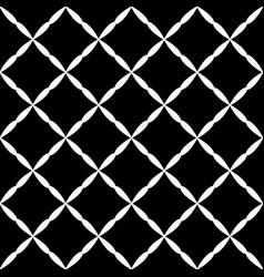 Seamless abstract grid art black white diagonal vector