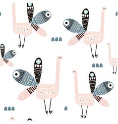 Seamless pattern with creative peacocks creative vector