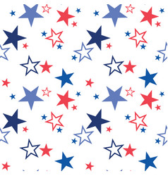 Seamless pattern with patriotic stars vector
