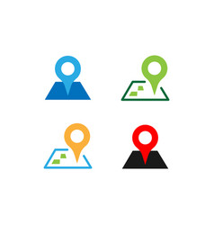 Set location point icon design template vector