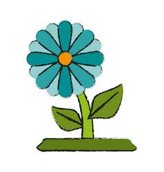 Single flower icon image vector