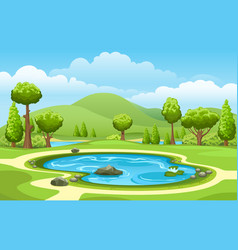 small garden lake vector image