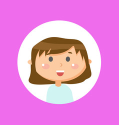 smiling character on pink laughing girl vector image