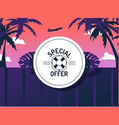 special offer for vacation trip vector image