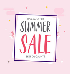 special offer summer sale best discounts backgroun vector image