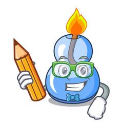 Student alcohol burner character cartoon vector