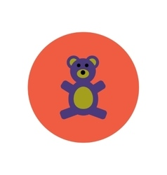 Stylish icon in color circle toy bear vector