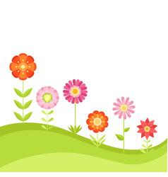 Summer floral background with garden vector