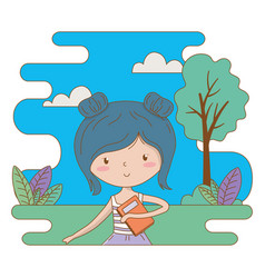teenager girl cartoon design vector image