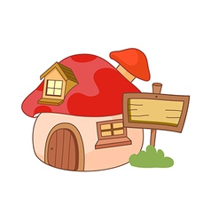 The house vector image