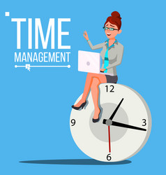 time management woman management vector image