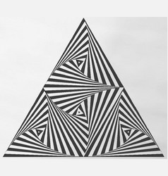 triangle array vector image