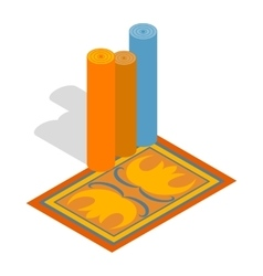 Turkish carpets icon isometric 3d style vector