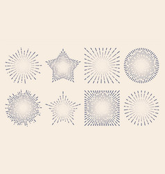 vintage sunburst starburst abstract retro vector image