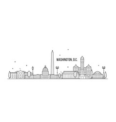 washington d c skyline usa city buildings vector image
