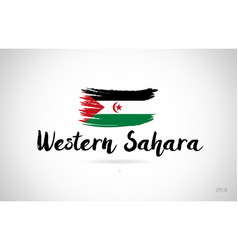 Western sahara country flag concept with grunge vector