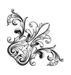 baroque ornament decoration element vector image vector image