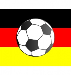 flag of Germany and soccer ball vector image