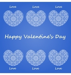 Postcard happy Valentines day vector image vector image
