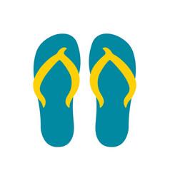 summer flip flops vector image vector image