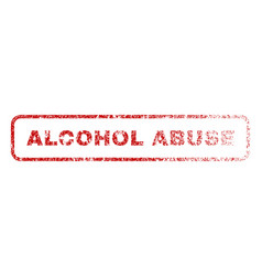 Alcohol abuse rubber stamp vector