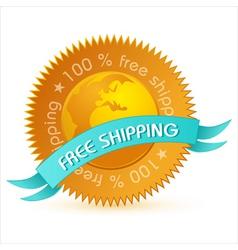 free shipping tag vector image vector image