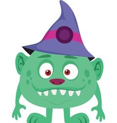 Halloween wizard icon vector
