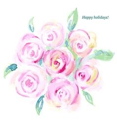 Sketch watercolor flowers in vintage style vector image vector image