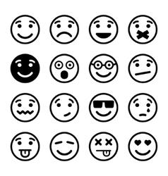 Smiley faces ns set vector